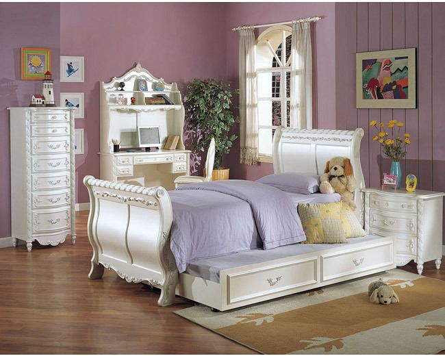 twin size bedroom sets. Pearl Collection White Finish Twin Size Bedroom Bed by Acme Best 25  sleigh bed ideas on Pinterest Rustic beds