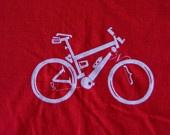 URBAN BIKE TYPOGRAPHY T-shirt  by Scott Kirkwood, Etsy.com: Bike Typography, Red, Bikes, Men'S, Typography T Shirts, Urban Bike
