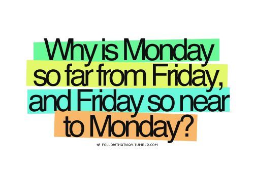 Why is Monday so far from Friday quote - 36 of My Favorite Silly, Crazy or Funny Quotes of the Day
