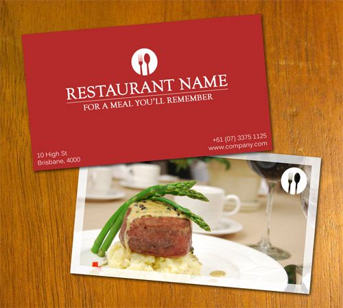 145 best business cards images on pinterest business card design restaurant business card cheaphphosting Images