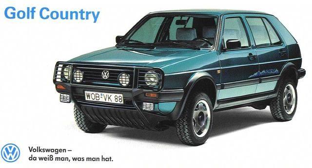 Volkswagen Golf Country 1990-1991.                                                                                                                                                                                 Plus
