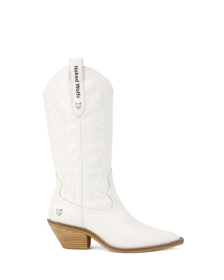 8ea93091ebd Giddy-Up White Leather | Style | Leather heels, White leather, Leather