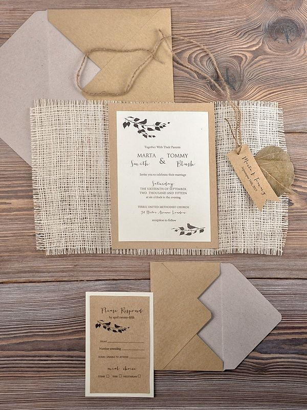 rustic wedding invitations do it yourself%0A WEDDING INVITATIONS rustic