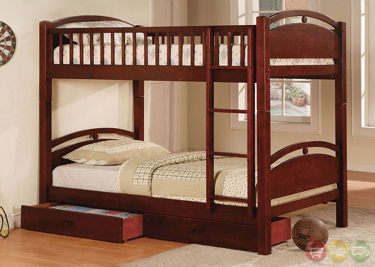 Best of Bunk bed is space efficient and made of Cherry Finish Wood Frame solid Photos - Fresh solid bunk beds Fresh
