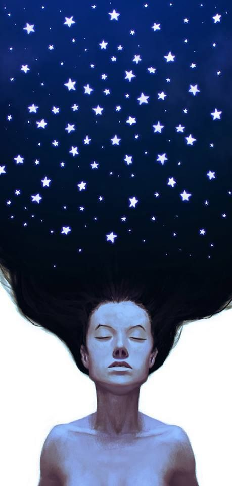 'I'm restless. Things are calling me away. My hair is being pulled by the stars again.' ~ Anaïs Nin — (art Giovani Kososki)