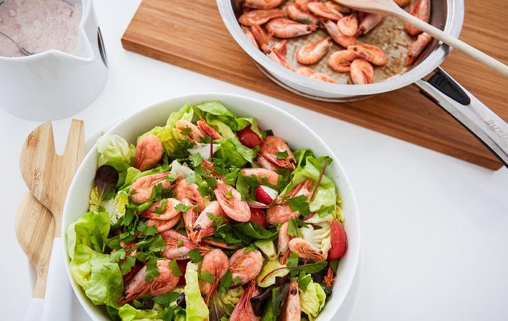 Připravte si rychlý a snadný krevetový salát