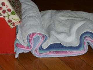 The Homeschool Den: Earth Science: How Fold Mountains are Formed. Blankets show layers of earth.