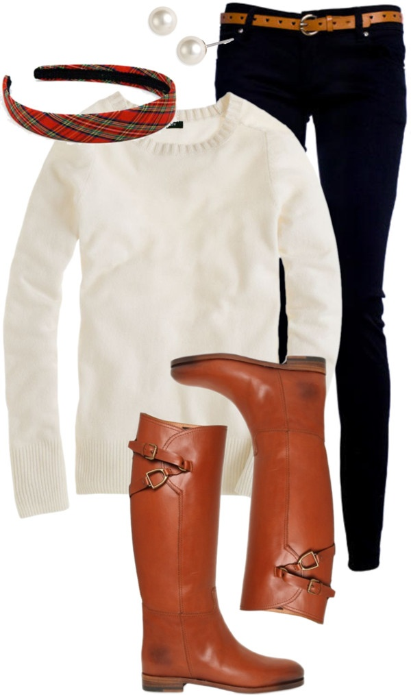 """Plaid Headband"" by classically-preppy ❤ liked on Polyvore"
