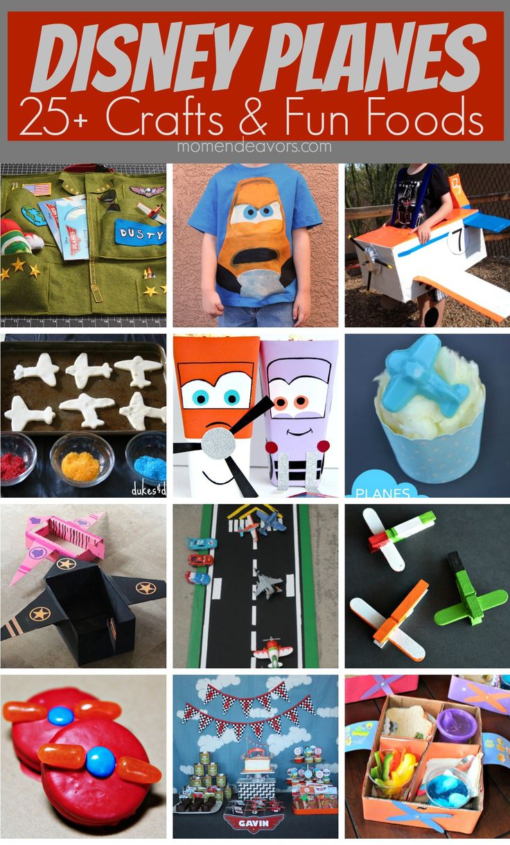 High-flying fun! 25+ creative Disney Planes crafts & fun food Ideas via momendeavors.com #Disney