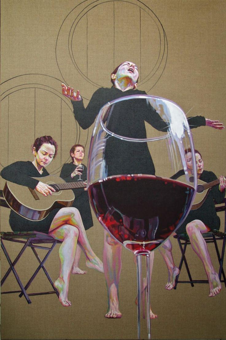 "Cristina Troufa - Contemporary Artist - Figurative Painting - ""Dar cor ao Fado"" - 2014"