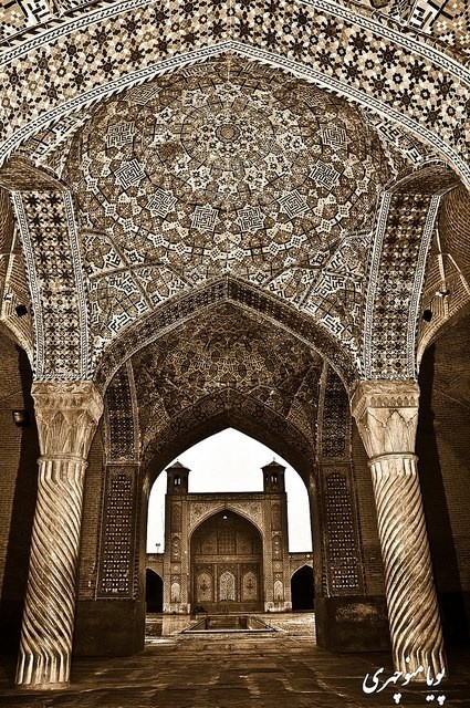 IRAN Vakil Mosque - مسجد وکیل This mosque was built between 1751 and 1773, during the Zand period; however, it was restored in the 19th century during the Qajar period. Vakil means regent, which was the title used by Karim Khan, the founder of Zand Dynasty. Shiraz was the seat of Karim Khan's government and he endowed many buildings, including this mosque