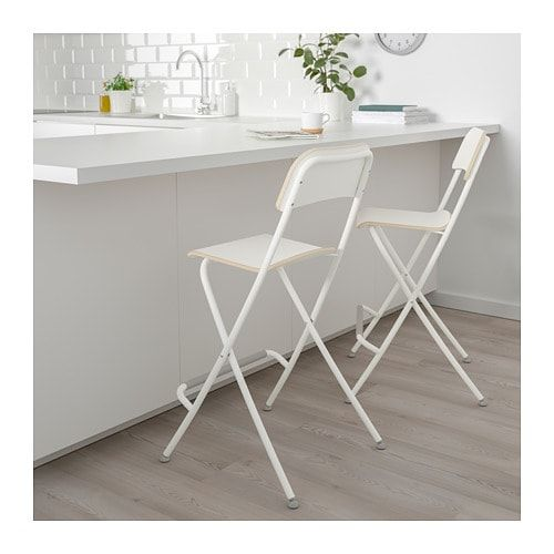 Franklin Chaise De Bar Pliante Blanc Blanc Id Nouvelle