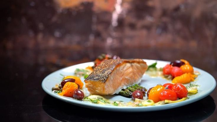 Stella & Jazzey's Salmon with Roasted Vegetables and Lemon Salsa