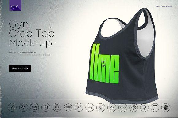 Gym Crop Top Mock-up