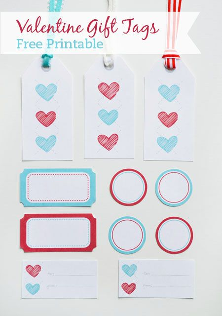valentine argyle heart gift tags - free printable: Little Paper Dog