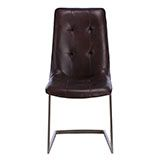 Hix Upholstered Dining Chair, Brown | Barstools | Dining Room