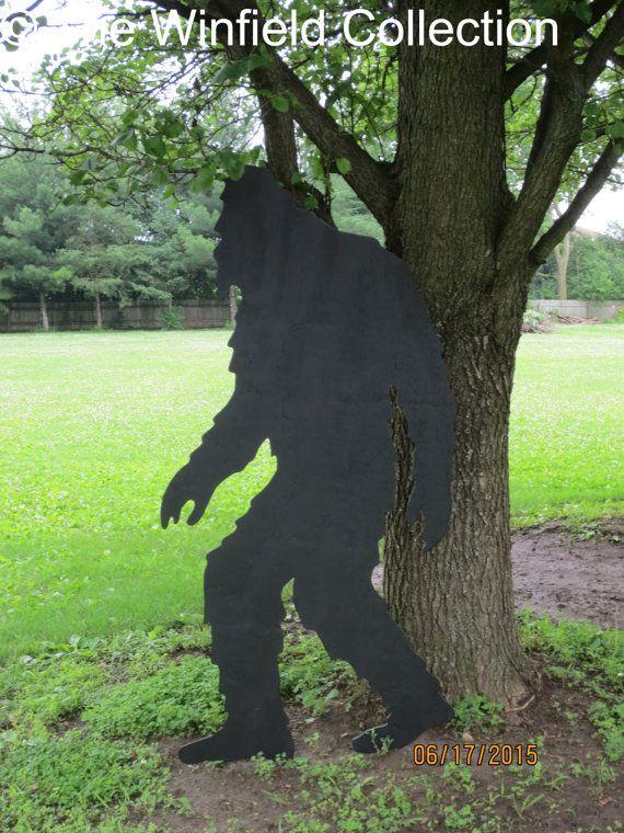 Bigfoot Big Foot Shadow Bigfoot Wood Silhouette By