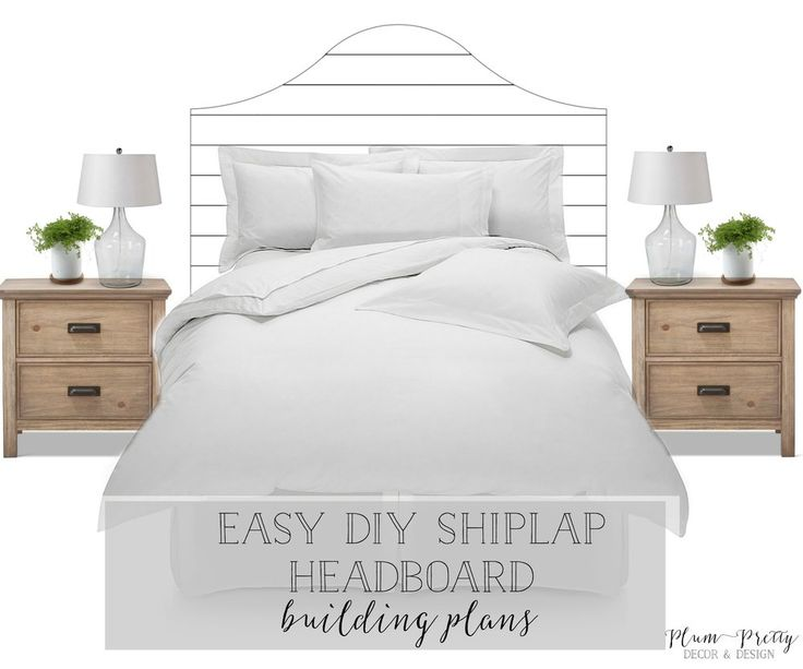 had a client searching for a DIY shiplap headboard tutorial so her dad could easily build the headboard for our interior design project. I searched the internet knowing I could find a tutorial for her to give to her father... Well I was wrong! No where did I find a tutorial that fit her desired shiplap bed. So I created my own building plans for her, and decided to share for all the others out there in this DIY community, that who too thought they could find a DIY shiplap headboard tut...