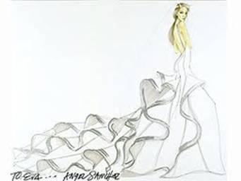Eva Longoria's dress sketch!!!