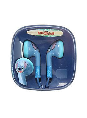 <p>Tune out the world and turn up the music with these Stitch face earbuds…