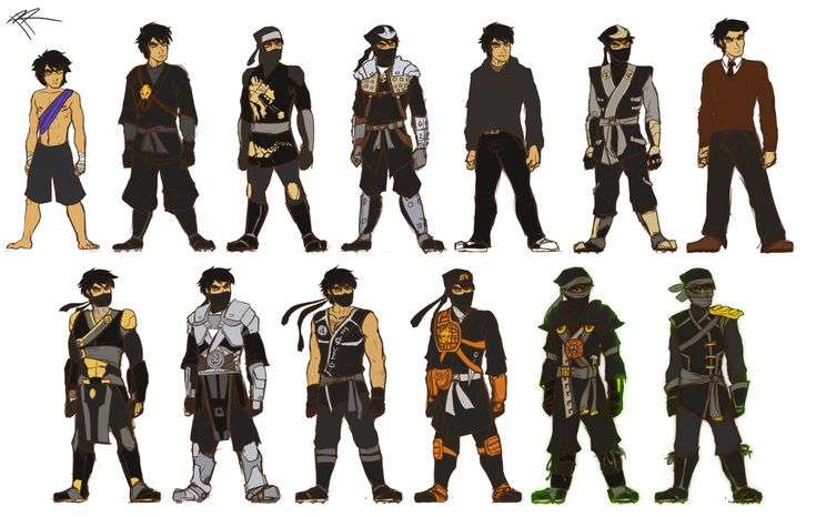 Ninjago: Cole's Costumes by RRproAni.deviantart.com on @DeviantArt