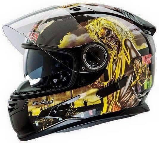 Motorcycle helmet of Iron Maiden
