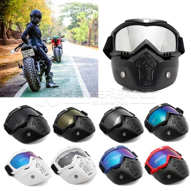 [Visit to Buy] Modular Mask Flexible Goggles Glasses Mouth Filter Anti Dust Sand Wind for Open Face Motorcycle Half Helmet or Vintage Helmets #Advertisement