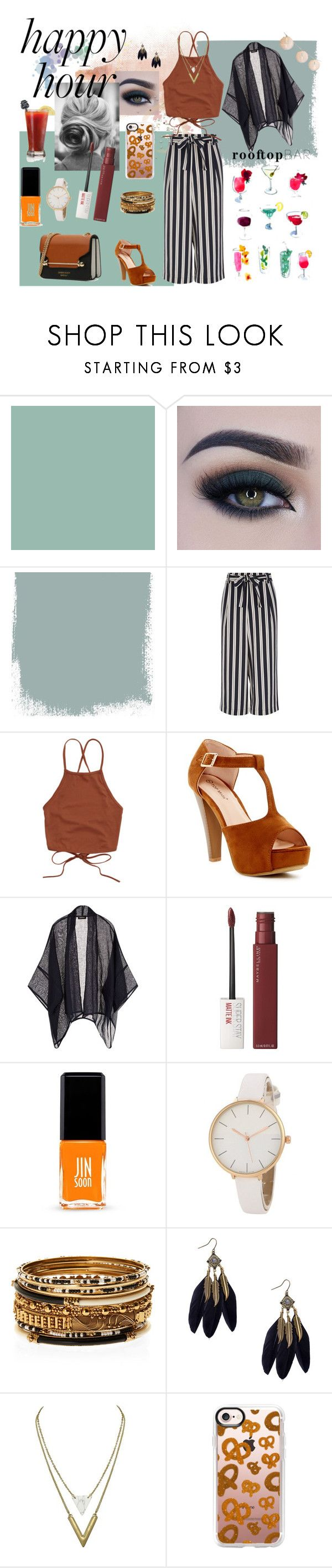 """Happy hour contest"" by lizenn-annah-binet ❤ liked on Polyvore featuring Too Faced Cosmetics, Top Moda, Eskandar, Maybelline, Jin Soon, Amrita Singh, Casetify and happyhour"