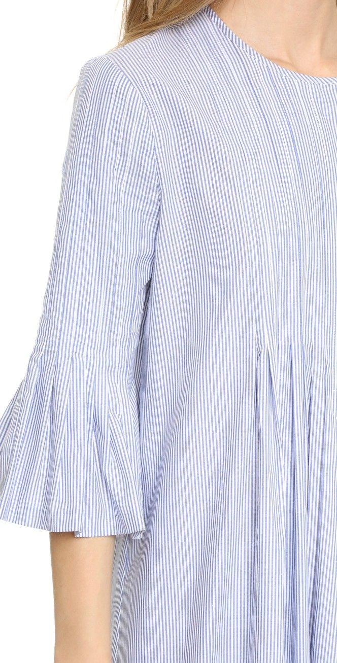 Cynthia Rowley Pintuck Ruffle Dress | SHOPBOP
