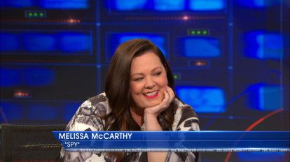 "Melissa McCarthy | Actress Melissa McCarthy discusses her Jon Stewart kimono as well as working with Jason Statham and learning about gun safety for her movie ""Spy."""