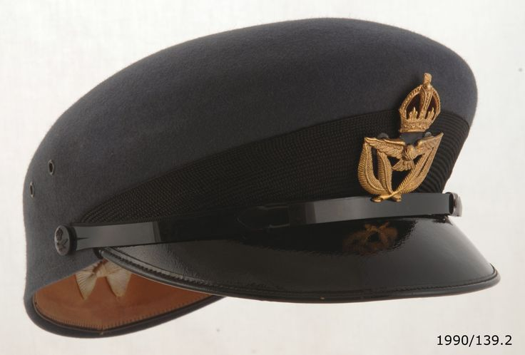 Women's Royal New Zealand Air Force Service Dress hat, belonging to Warrant Officer Catherine Bryers, 1950.From the collection of the Air Force Museum of New Zealand.