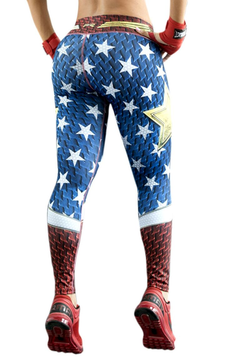 Fiber - Wonder Woman Leggings - Roni Taylor Fit  - 2