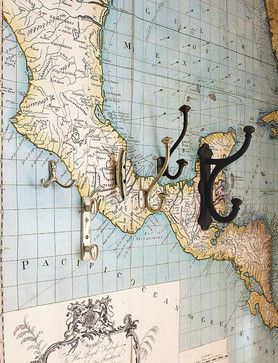 Map Wall Decal - traditional - decals - Pottery Barn