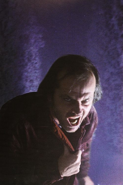 #ADVOCATE1612 This image of actor Jack Nicholson in the Hedge Maze appears to be a still from The Shining, but it's not; it cannot be matched to any frame in the finished film. It's either from an unused take, or is a still taken on the set. Its source remains unknown.