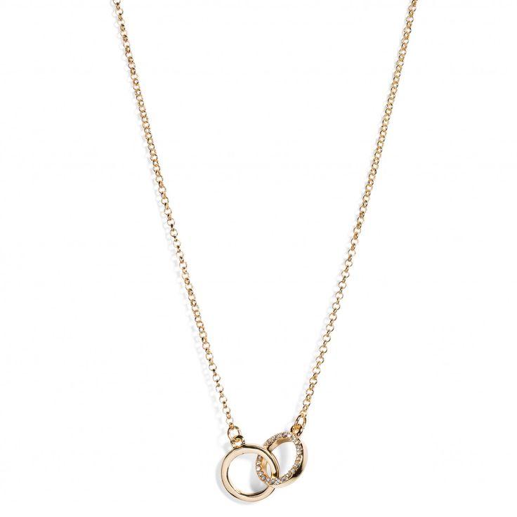 Halsband, två ihopsatta ringar