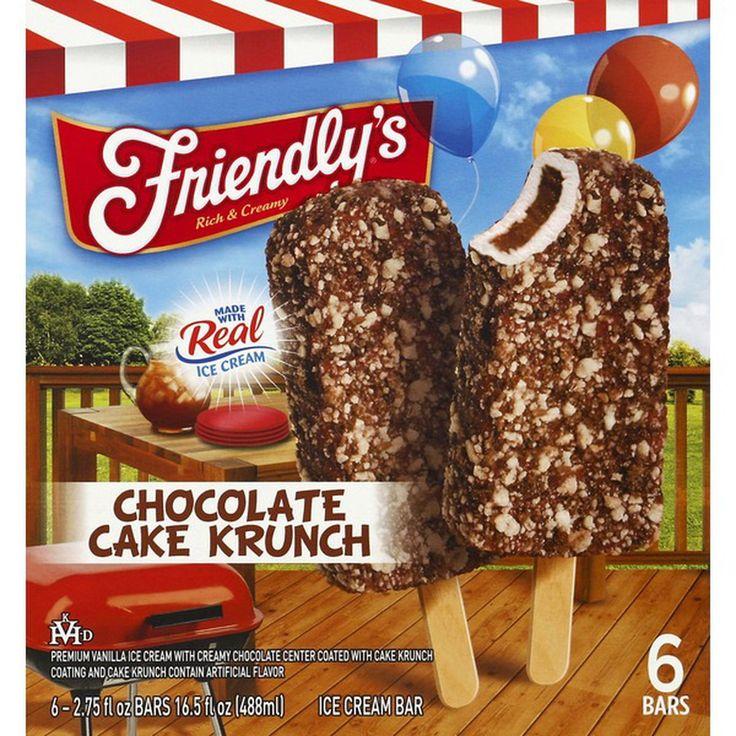 Shaws friendlys ice cream bar chocolate cake krunch