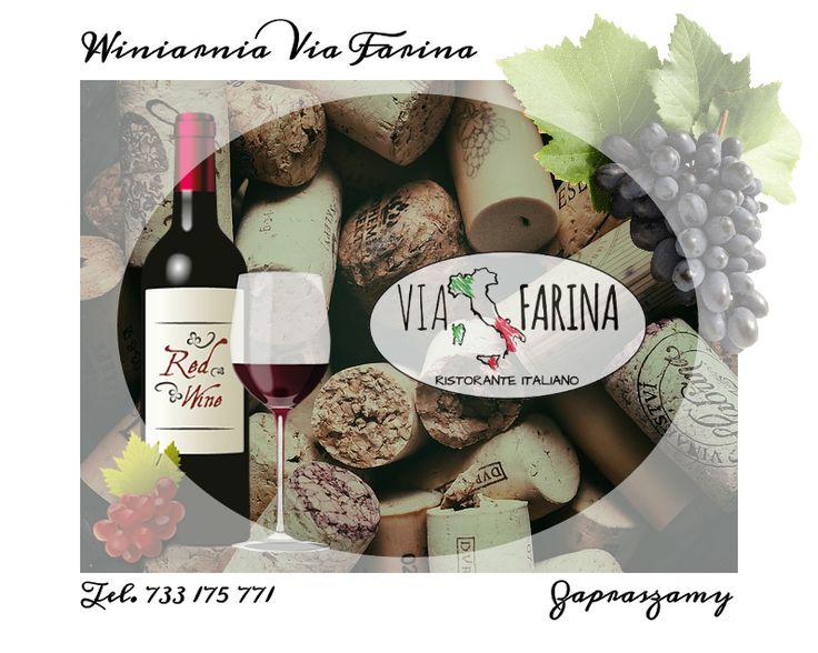 ☛ WINIARNIA VIA FARINA ☚ Zaproście przyjaciół do naszej restauracji. Doskonały smak włoskiego jedzenia, a do tego wyśmienite wino z naszej winnicy sprawi, że poczujecie się jak na wakacjach w SŁONECZNEJ ITALII ☼  Zobaczcie, co wyjątkowego przygotowaliśmy w kategorii WŁOSKIE WINO ☛ http://www.viafarina.pl/wina/ ☚ ☼ ZAPRASZAMY ☼  #restauracja #restauracjawłoska #niepołomice #i #okolice #kraków #wieliczka #pizza #italia #menu #obiad #lunch #kolacja #pysznejedzenie #zaproszenie #spaghetti #wino…