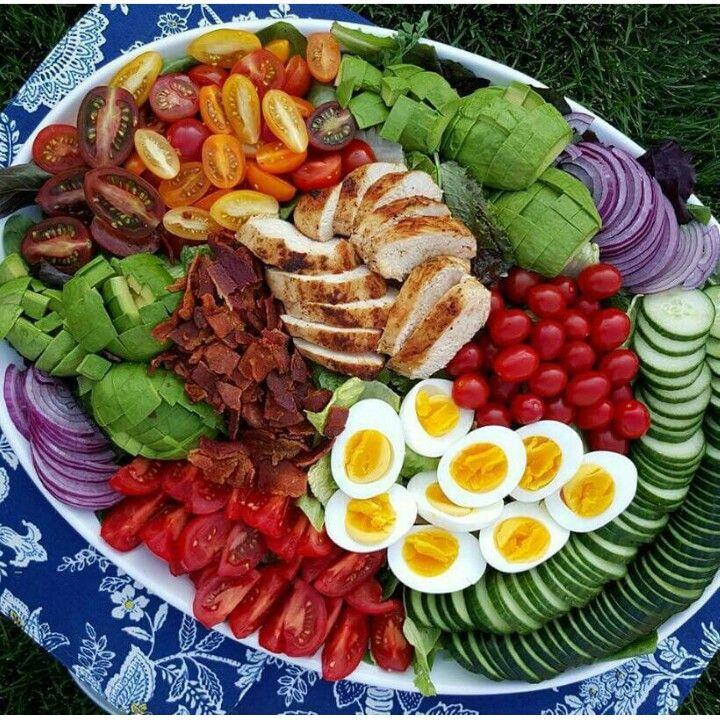 Large family size cob salad