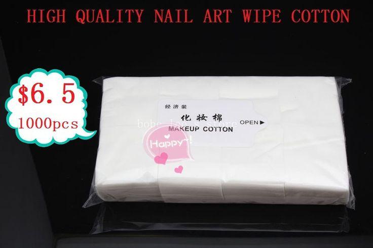 Frete grátis 1000 limpe Wipes algodão para maquiagem Nail Art polonês acrílico Gel dicas Remover 100% de alta qualidade alishoppbrasil