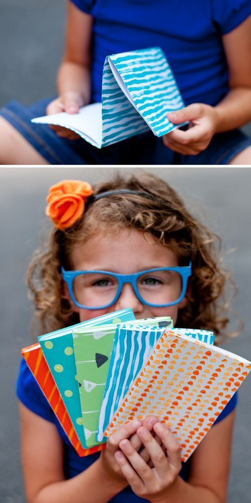 DIY: How to Make a Dos-A-Dos (or Back-to-Back) Notebook. So fun and easy! Even for school age kids.     Design Mom