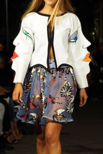 Naira Khachatryan #MFW #SS16 #moda #fashion #outfit #look Milano fashion week www.modablogger.eu