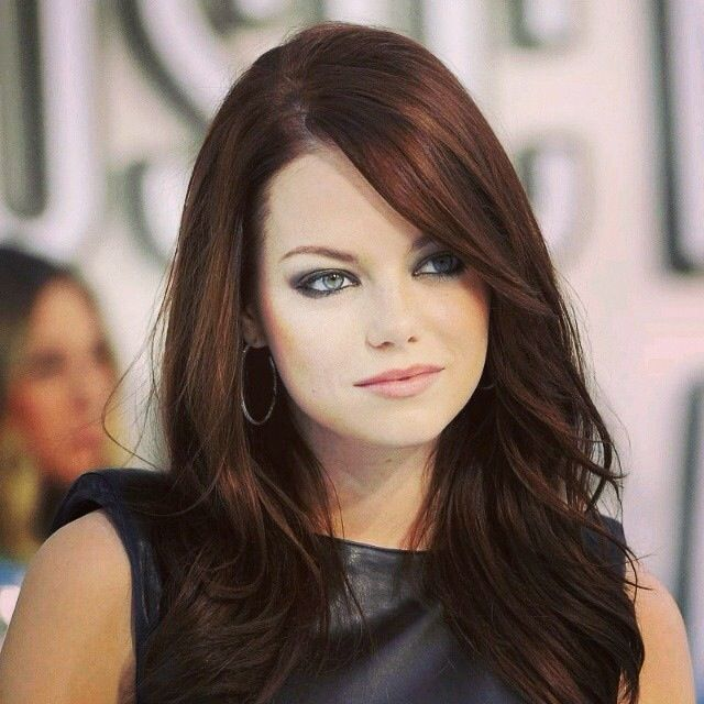 I want her hair color!!!! love her hair color slight red tint love it!!!!!!!!