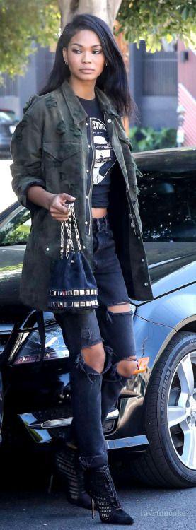 Chanel Iman w/Alexander Wang handbag