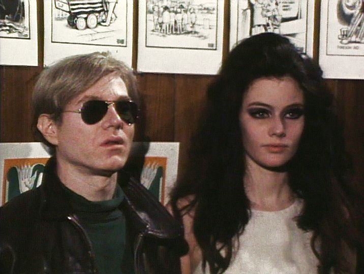 "l-o-o-p-y: """"Andy Warhol and Susan Bottomly aka International Velvet promoting Warhol's 25 hour film, ""**** (Four Stars)"", 1967"" """
