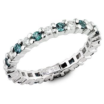 Alexandrite & diamond ring...love this as a mothers ring representing both kids' birthstones.