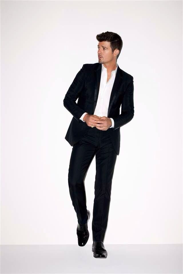 Robin Thicke ;) his suit kills me!