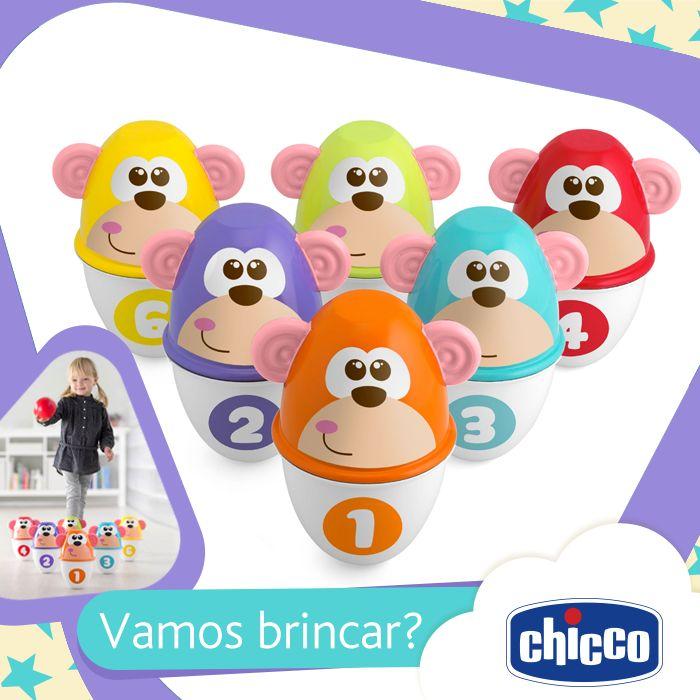Vamos brincar? Passe em uma de nossas lojas e conheça o Boliche dos Macaquinhos, a diversão da garotada está garantida! #bolichedosmacaquinhos #chicco #boliche