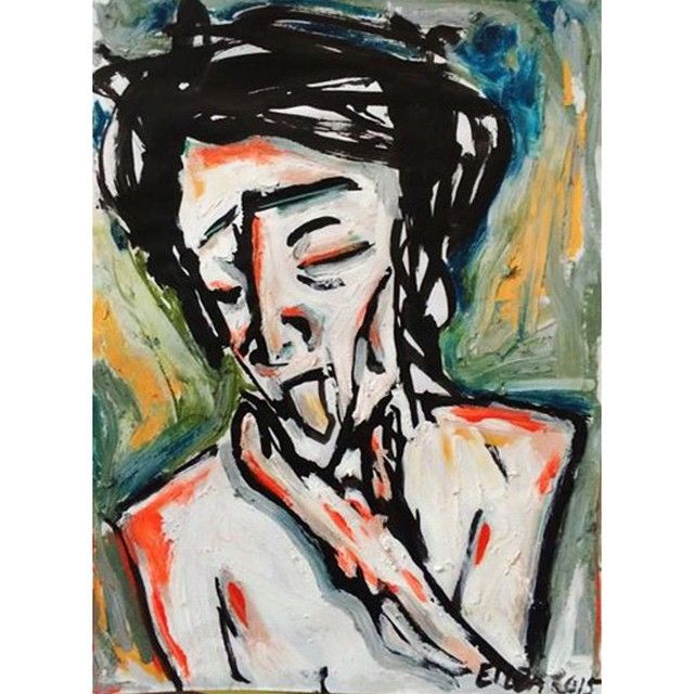 """Colour #artbrut #outsiderart #rawvision #colour #portrait #fonda"""