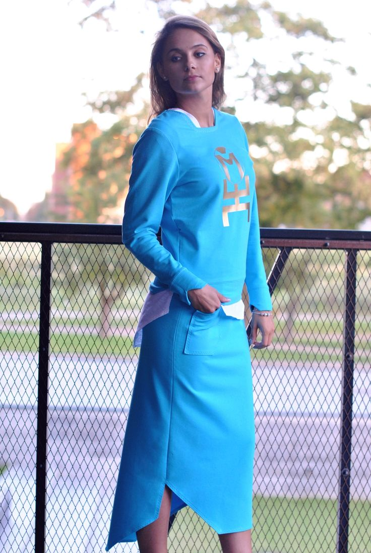 Hero collection for her - sweatshirt and long skirt.