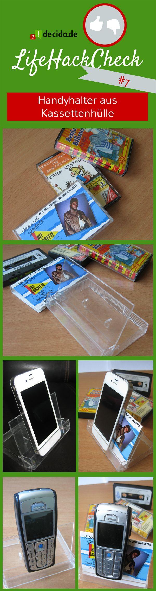 Handyhalter aus Kassettenhülle Der #LifeHack: Kassettenhülle umdrehen und aufstellen #lifehack #DIY #tipps #tricks